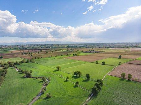 Fields, Farm, Rural, Lodigiano, Landscape, Countryside