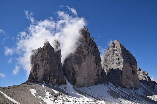 Mountains, Rocks, Cliff, Snow, Ice, Frost, Peak