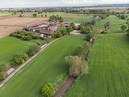 Fields, Rural, Cascina, Lodigiano, Farm, Landscape