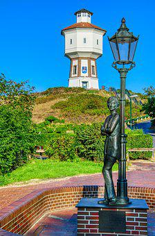 Langeoog Water Tower, Statue, Lale Andersen, Park