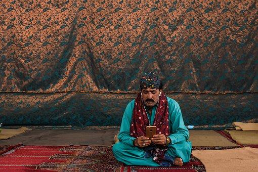 Man, Portrait, Technology, Male, Boy, Connection