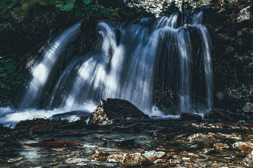 Waterfall, River, Nature, Stream, Water, Cascade, Flow