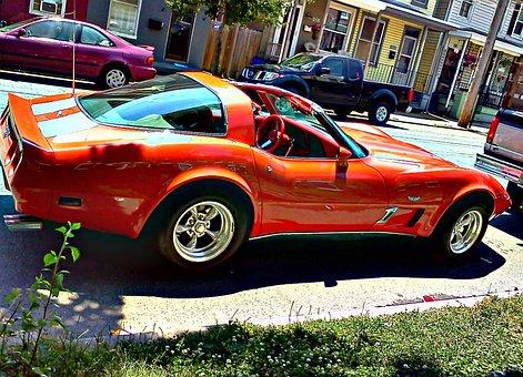 Chevy, Corvette, Rims, American, 2-door, Aggressive