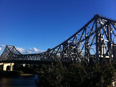 Australia, Brisbane, Queensland, Bridge, Brisbane-river