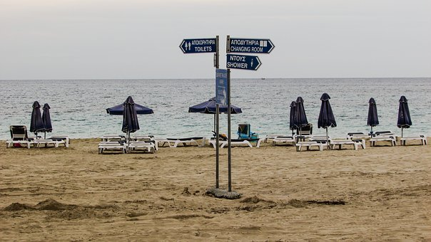 Beach, Empty, Melancholy, Autumn, End Of Season