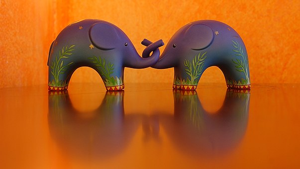 Orange, Blue, Elephants, Color, Yellow, Colors
