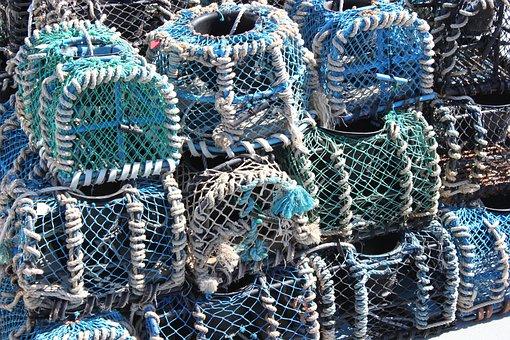 Locker, Fishing, Blue, Brittany, Island