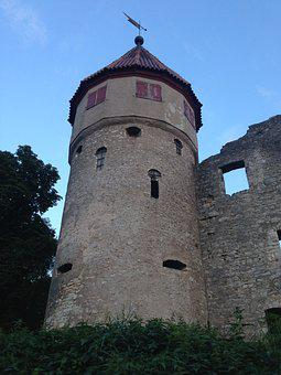 Castle, Honing Mountain, Tuttlingen, Ruin, Germany