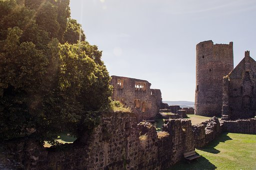 Castle, Summer, Nature, Ruin, Wall, Old, Romanesque