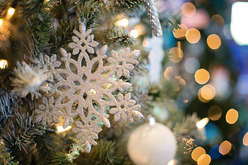 Snowflake, Ornament, Christmas Ornament, Tree, December