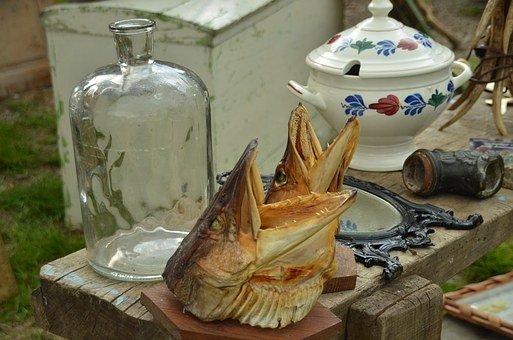 Jumble Sale, Oddities, Flea Market, Fish Head, Fish
