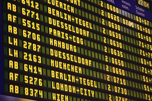 Airport, Flights, Scoreboard, Flight, Travel, Ad