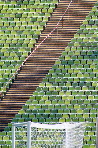 Stadium, Goal, Football, Olympic Station, Munich, Sit