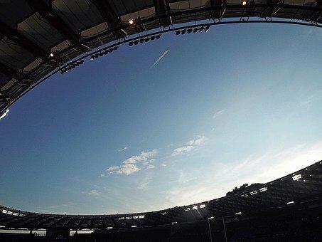 Stadium, Sky, Rugby, Olympics, Rome