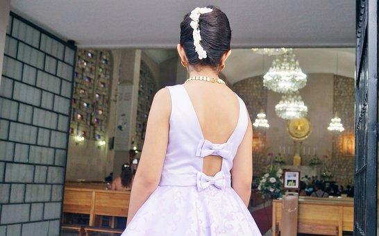 Bridesmaid, Dress, Purple, Elegance, Beauty, Lilac