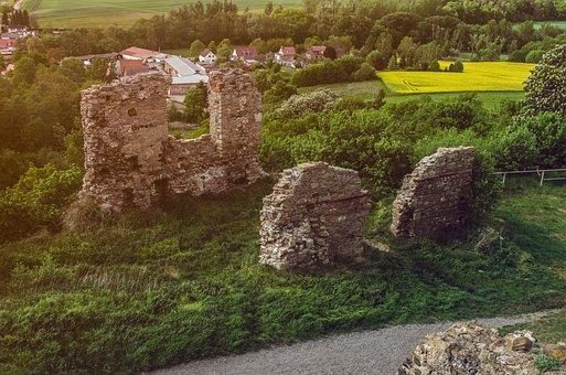Ruin, Castle, Landscape, Summer, Romanesque, Nature