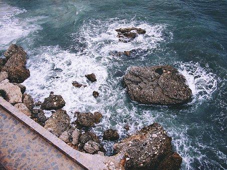 Nerja, Sea, Rocks, Walking, Spain, Mediterranean, Coast
