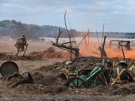 War, Reenactment, Battle, Soldiers, Military, Historic