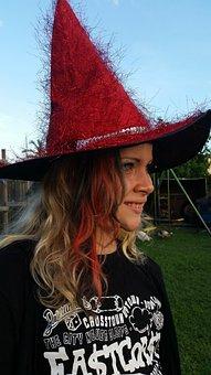Girl, Witch, Dress Up, Costume, Halloween, Magic