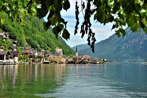 Hallstatt, Village, Lake, Salzkammergut, Austria