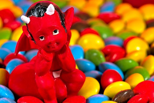 Devil, Sweets, Snack, Treat, Temptation
