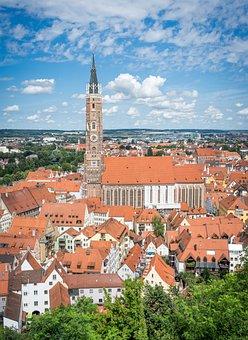 Landshut, City, Tower, Bavaria, Germany, Historical