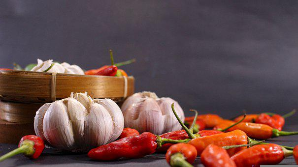 Chili, Garlic, Flavor, Red Chili, Pepper, Hot, Spicy