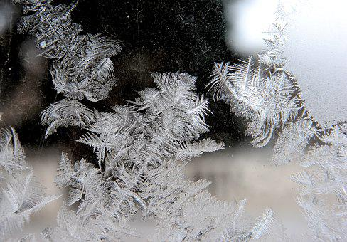 Ice, Frost, Crystals, Frozen, Cold, Pattern, Glass