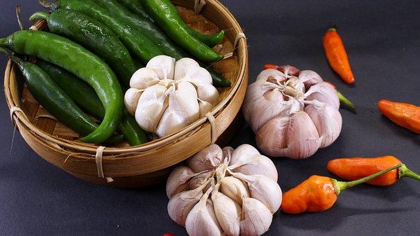 Chili, Garlic, Flavor, Pepper, Hot, Spicy, Ingredients