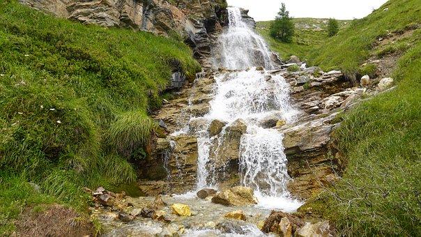Nature, Outdoors, Stream, Waterfall, Travel