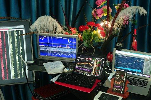 Stock, Trading, Charts, Graphs, Nasdaq, Profits