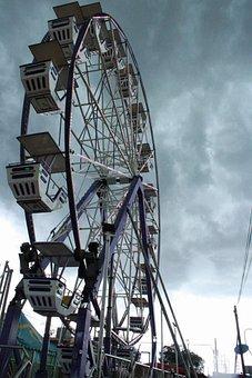 Ferris Wheel, Amusement Park, Amusement Ride, Sky