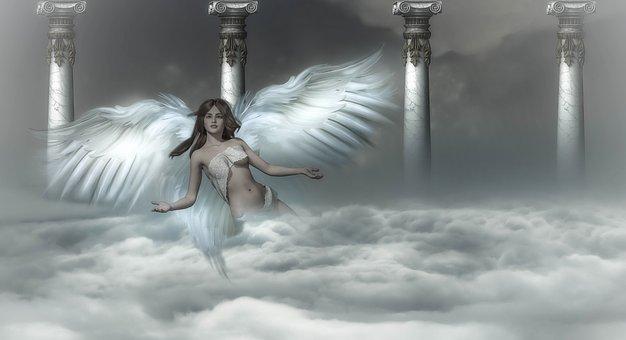 Background, Fantasy, Angel, Heaven, Clouds, Angel Wings