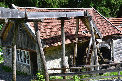 Mill, Water Wheel, Allgäu, Bavaria, Building, House
