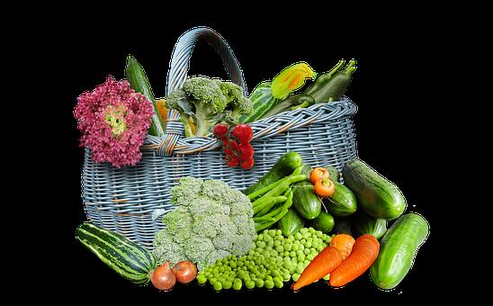 Vegetables, Nutrition, Ingredients, Basket, Cutout