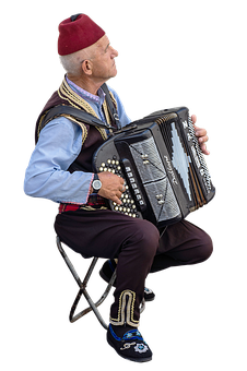 Man, Accordion, Instrument, Street Musicians