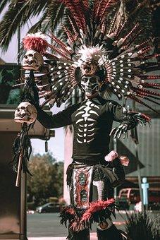 Mexico, Day Of The Dead, Catrinas Parade, Carnival