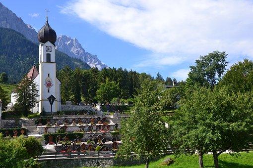 Church, Allgau, Countryside, Mountains, Germany