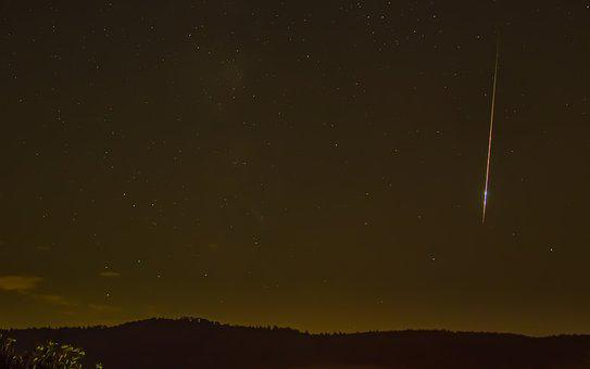 Shooting Star, Stars, Heaven, Night Sky, Perseiden