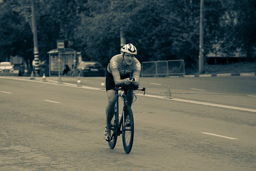 Cyclist, Race, Bicycle, Road, Sports, Speed, Helmet