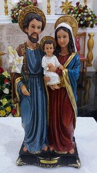 Holy Family, Joseph, Mary, Religion, Christian, Baby