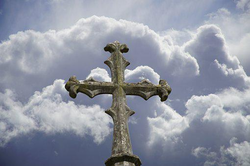 Cross, Stone Cross, Sculpture, Old, Christianity