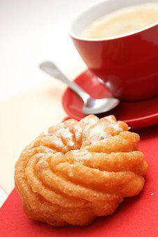 Coffee, Pastry, Snack, Refreshments, Dessert