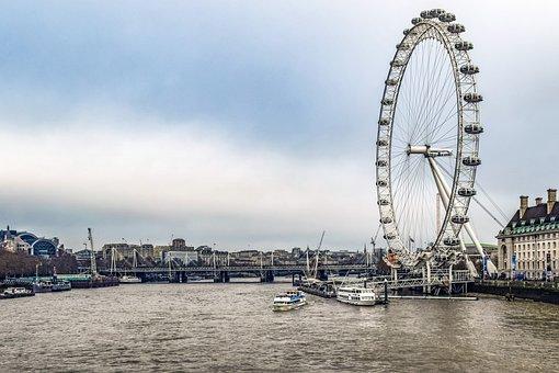 Ferris Wheel, London Eye, River, Ride, England