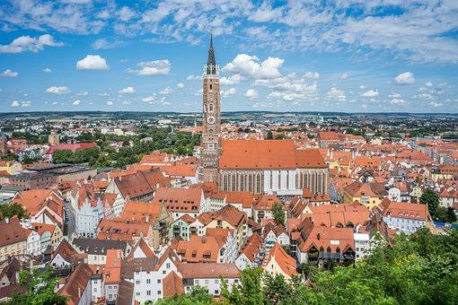 Bavaria, Landshut, Church, Architecture, Germany