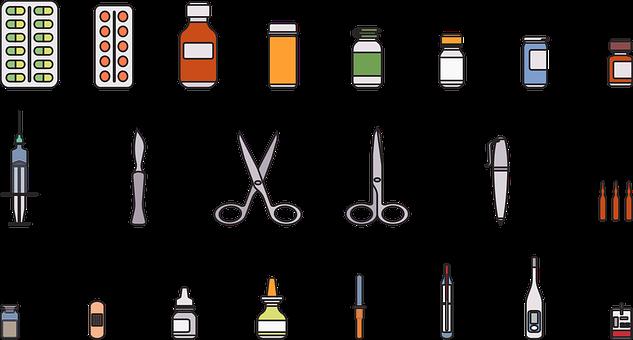 Medical, Supplies, Hospital, School Supplies