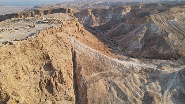 Cliffs, Rock Formation, Roman Siege Ramp Masada