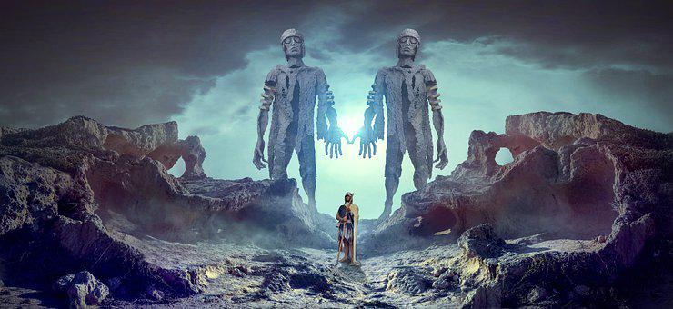 Sculpture, Man, Surreal, Giant, Statue, Stone, Figure