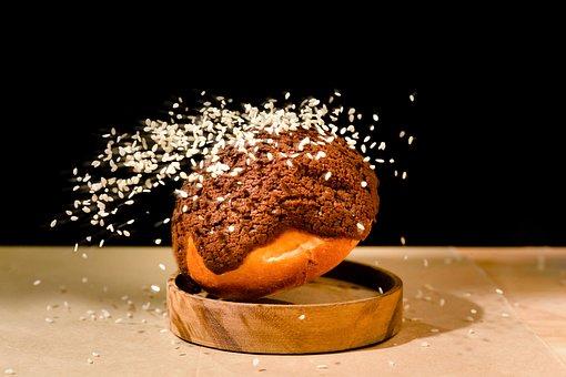 Bread, Cocoa, White Sesame, Sweet, Bakery, Snack, Treat