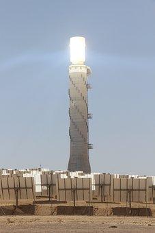 Tower, Power Tsation, Thermo Solar Power Station, Sun